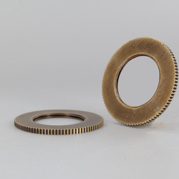 2-1/8 in. UNO-RING KNURLED EDGE ANTIQUE BRASS