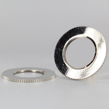2-1/8 in. UNO-RING KNURLED EDGE NICKEL PLATED