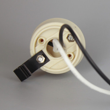 GU24 LED/CFL Lamp Socket with Snap-In Clip and 18in. Leads
