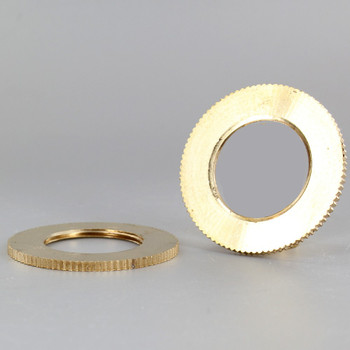 2-1/8 in. UNFINISHED BRASS UNO-RING WITH KNURLED EDGE