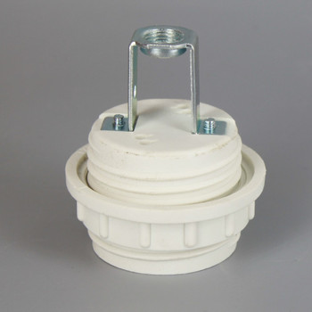 GU24 CFL Lamp Threaded Body and Ring Socket with 15/16in Height Hickey
