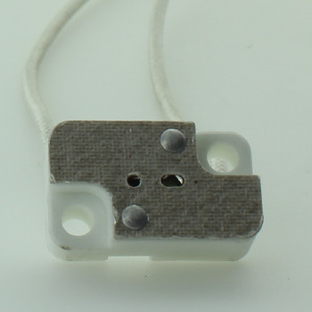 G5.3 and G6.35 Base Bi-Pin Porcelain Lamp Socket with 12in. Leads