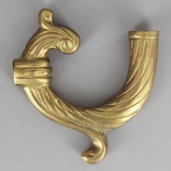 1/8ips - 4in Long Cast Brass Swirl Arm