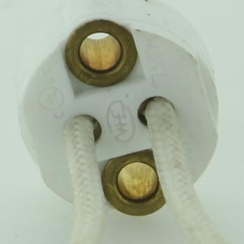 Bi-Pin LED / Halogen Porcelain Socket with 6in. Leads.