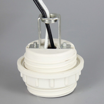 GU24 CFL Lamp Threaded Body and Ring Socket with 1/8ips. Female Hickey and 60in. Wire