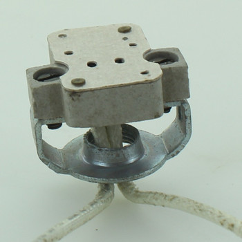 1/8ips. Bi-Pin Halogen Porcelain Socket with 5in. Leads