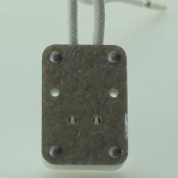GX5.3 Base Bi-Pin Porcelain Socket with 6in. Leads