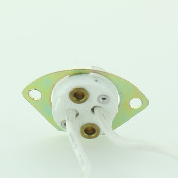 GX5.3 Lamp Socket with Metal Mounting Bracket and 8in. Leads