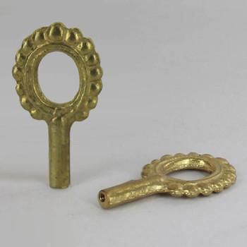 Cast Brass Beaded Socket Knob with 4/36 Thread