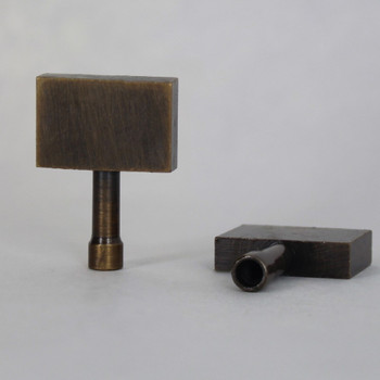 Antique Brass Finish Cast Brass Antique Style Paddle Socket Knob with 4/36 Thread