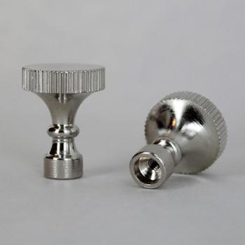 Polished Nickel Finish Turned Knurled Socket Knob with 4/36 Thread