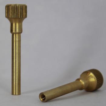 Turned Brass Knurled Socket Knob with 4/36 Thread