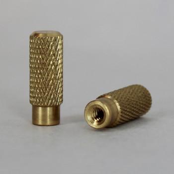 Brass Knurled Socket Knob with 4/36 Thread