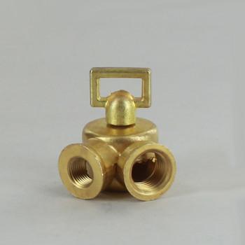 1/4IPS Female X 1/8IPS Female Threaded Unfinished Brass Cast Key Swivel with Teeth