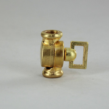 1/8ips Female X 1/8ips Female Threaded Unfinished Brass Baby Key Swivel