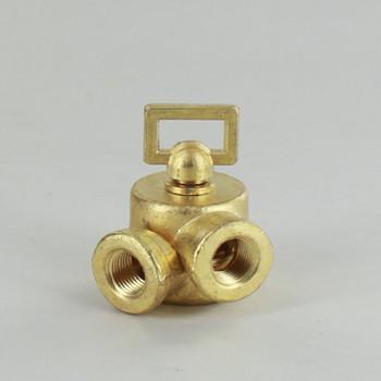 1/8IPS Female X 1/8IPS Female Unfinished Brass Cast Key Swivel without Teeth