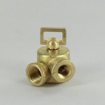 1/4IPS Female X 1/8IPS Female Threaded Unfinished Brass Cast Key Swivel without Teeth