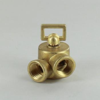 1/4IPS Female X 1/4IPS Female Threaded Unfinished Brass Cast Key Swivel without Teeth