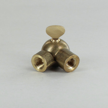 1/8IPS Female X 1/8IPS Female Threaded Unfinished Brass Adjustable Ball Key Swivel with Teeth