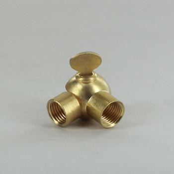 1/4IPS Female X 1/4IPS Female Threaded Unfinished Brass Adjustable Swivel with Wing Nut Adjustment