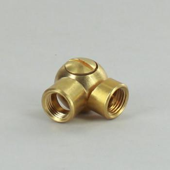 1/8IPS Female X 1/8IPS Female Threaded Unfinished Brass Adjustable Friction Swivel