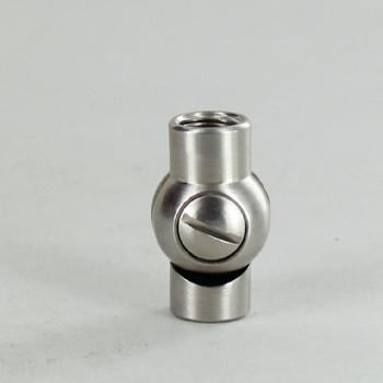 1/8IPS Female X 1/8IPS Female Threaded Satin Nickel Plated Finish Adjustable Friction Swivel