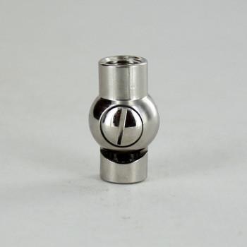 1/8IPS Female X 1/8IPS Female Threaded Nickel Plated Finish Adjustable Friction Swivel