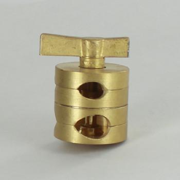 1/8ips. X 1/4ips. Unfinished Brass Clutch Swivel Set