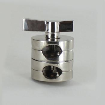 1/4ips. X 1/4ips. Polished Nickel Finish Clutch Swivel Set