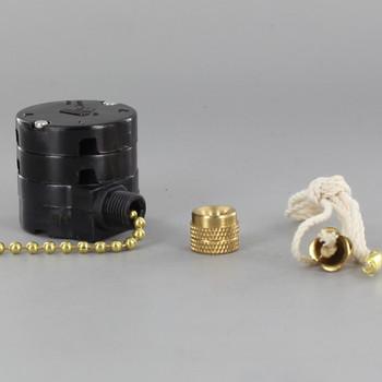 3-Speed Pullchain Fan Switch 8 Wire Unit