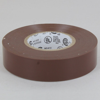 60ft Long Roll - 3/4in. Wide Thermoplastic PVC Insulating Tape - Brown