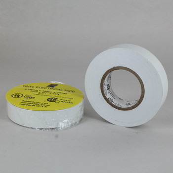 60ft Long Roll - 3/4in. Wide Thermoplastic PVC Insulating Tape - White