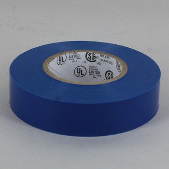 60ft Long Roll - 3/4in. Wide Thermoplastic PVC Insulating Tape - Blue