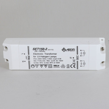 230V~5-HZ 50-150W Maximum Transformer - Suitable for class II appliance