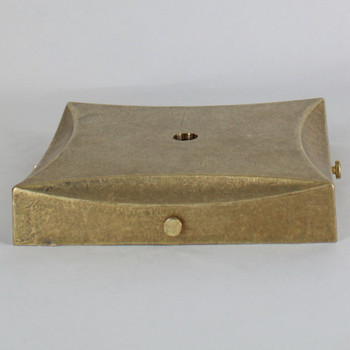 5in Screw less Face Mount Decora Square Canopy/Backplate - Unfinished Brass