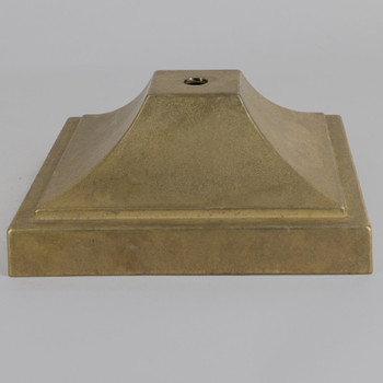 Cast Brass Square Canopy/ Backplate  with 1/8ips Slip Center Hole