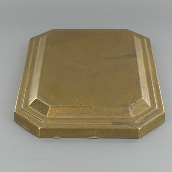 Unfinished Brass Rectangle Backplate with No Holes