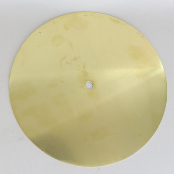 7-7/8in Diameter Flat Brass Washer Plate with 1/8ips Slip (7/16in) Center Hole.