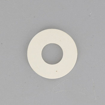 1in. White Rubber Washer with 1/8ips. Slip Through Hole