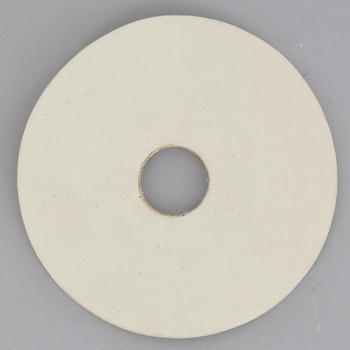 2in. White Rubber Washer with 1/8ips. Slip Through Hole