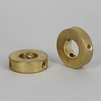 1/8ips Slip Shade Spider with (3) 8/32 Threaded Side Holes - Unfinished Brass