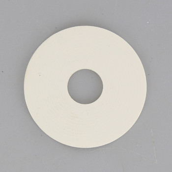1-1/4in. White Rubber Washer with 1/8ips. Slip Through Hole