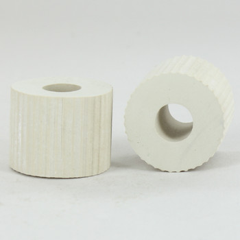 1in. White Rubber Bottle Adapter with 1/8ips. Slip Through Hole