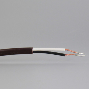 18FT BROWN 18/2 NISPT-2 PVC Insulated Parallel Flexable Cord with Rocker Switch Installed.