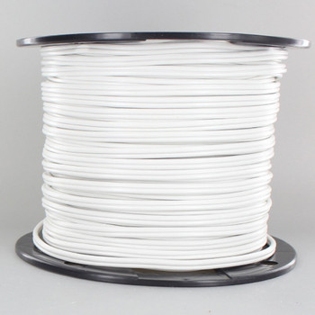 18/2 SPT1 White PVC Jacket - Stranded Copper Parallel Lamp and Lighting Wire