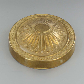 Large Starburst Design Cast Brass Backplate