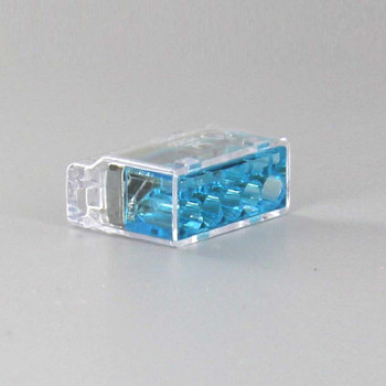 Blue 5 Pole Push In Wire Connector For use with solid and flexible/stranded wire.