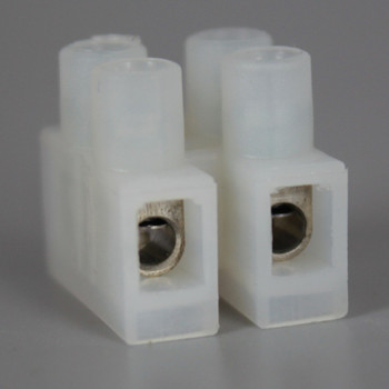 2 Pole Low Profile Wire Protector Terminal Block for wire sizes 12-22 Gauge.