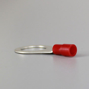 1/8ips (3/8n OD) Crimp-On Ring Terminal for use with 22-16 Gauge Wire Sizes.