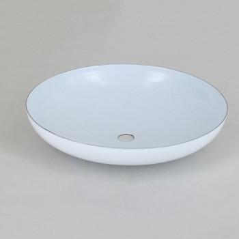 1/8ips Center Hole - Modern Canopy - White Gloss